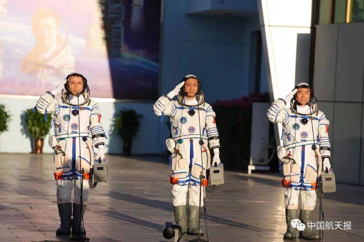 retorno de la nave Shenzhou-12